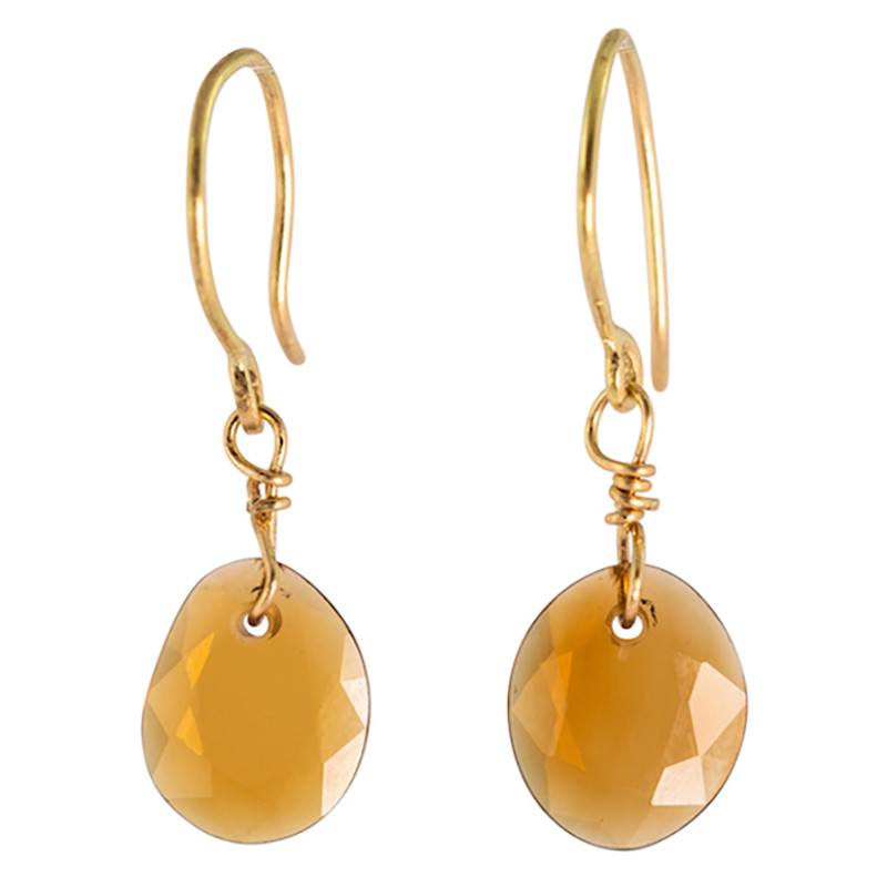 Earrings Bahia Tourmaline Caramel 18K Gold