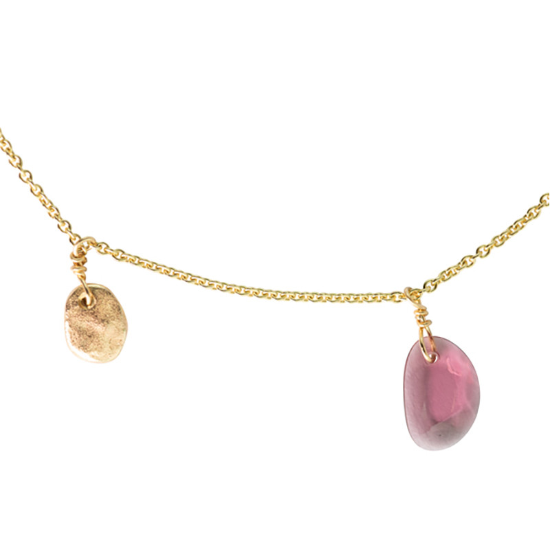 Necklace Bahia Rhodolite Gold 14K