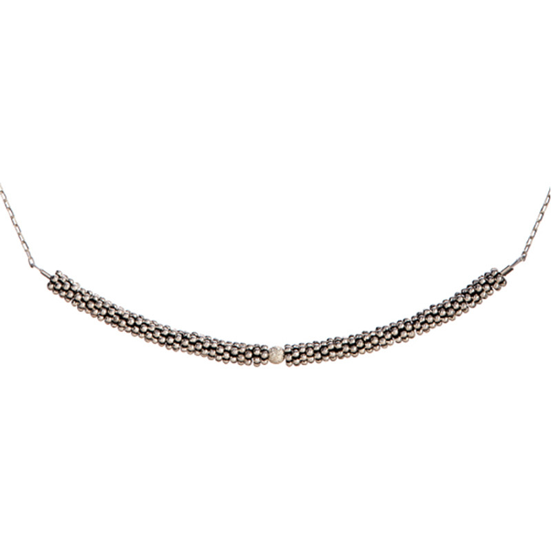 Necklace Bhoutan Sterling Silver 1 Sphere