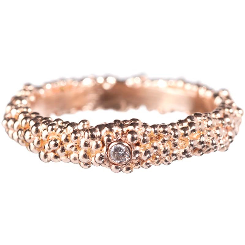 Ring Billes Pink Gold Vermeil Diamond