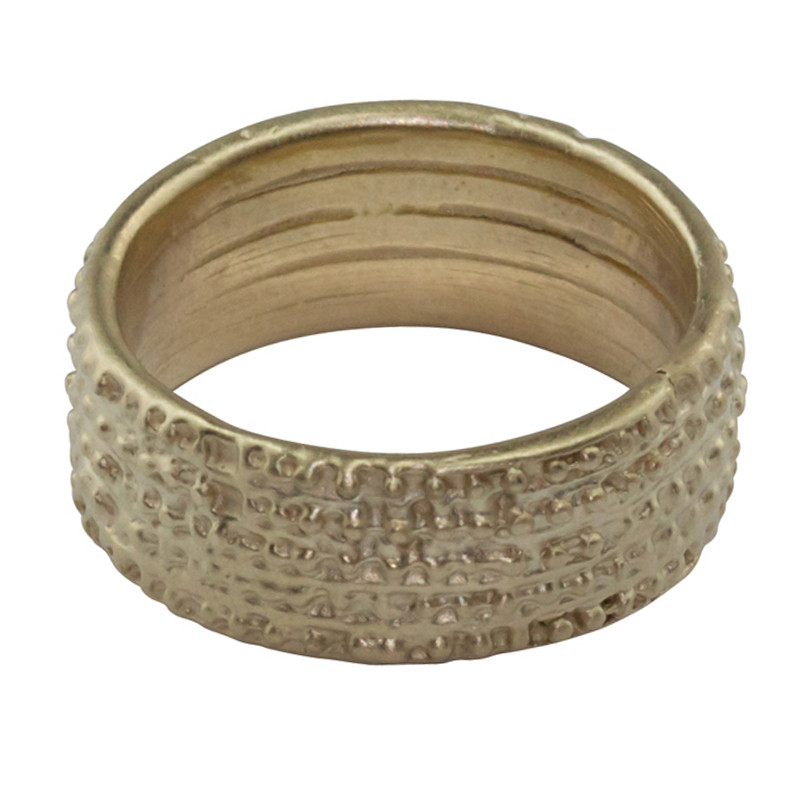 Ring Grenaille Light Gold Vermeil Large