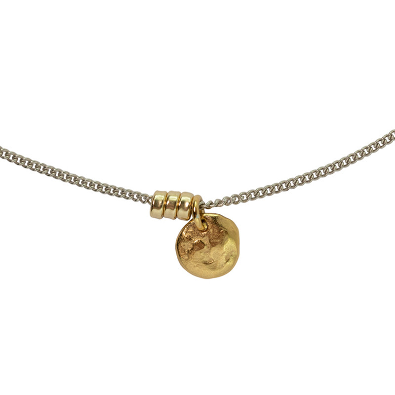 Necklace Moon 18K Gold & Sterling Silver