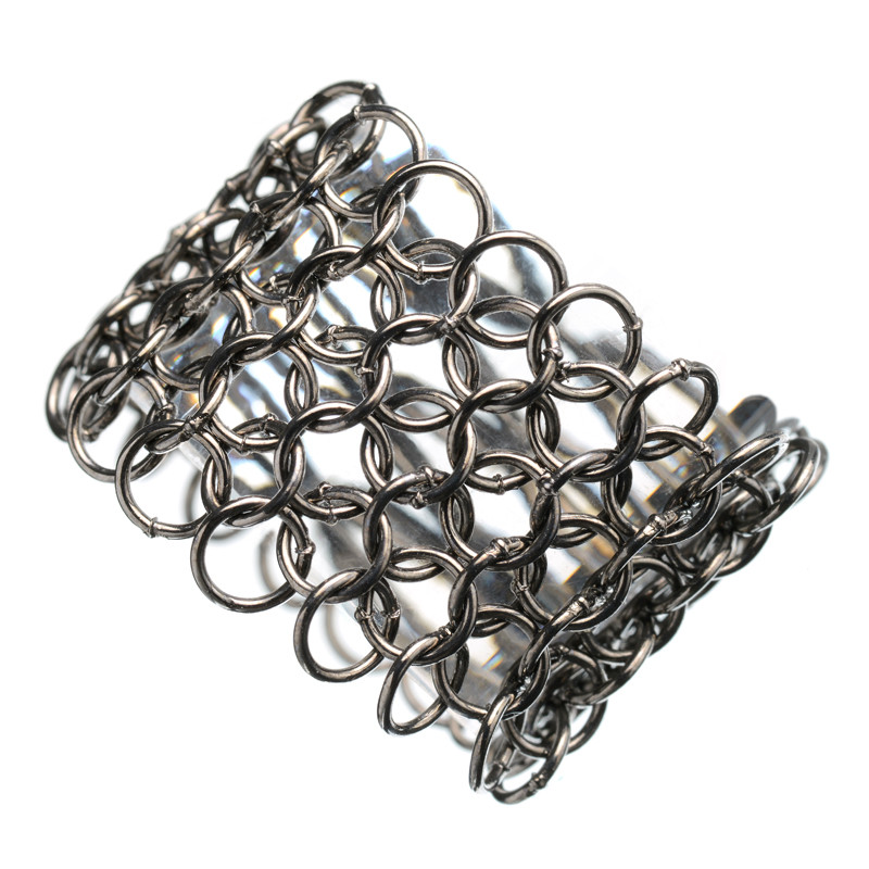 Ruthenium Ring Mesh Tube Ring