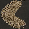 Cuff Bracelet Cotte de Mailles Sterling Silver Gold Plated Chain