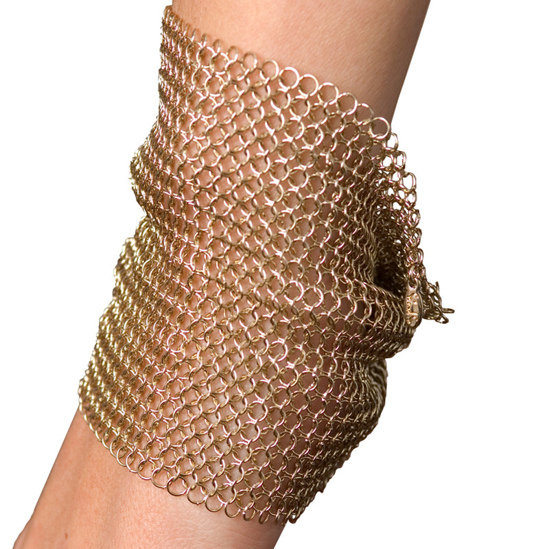 Tube Bracelet Cotte de Mailles Gold Plated