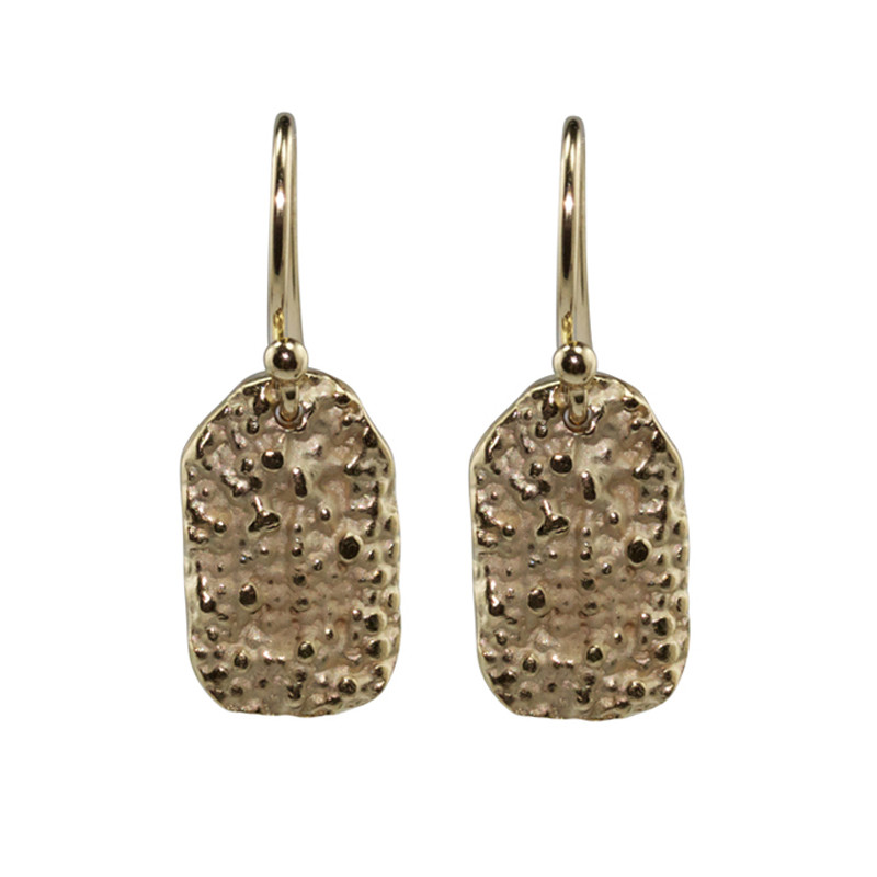 Earrings Lichen Sterling Silver Light Gold Plated