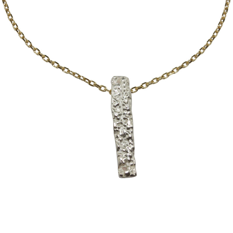Necklace Lichen Silver Light Gold Plated & Sterling Silver