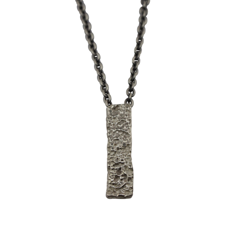 Necklace Lichen Oxidized Silver Men
