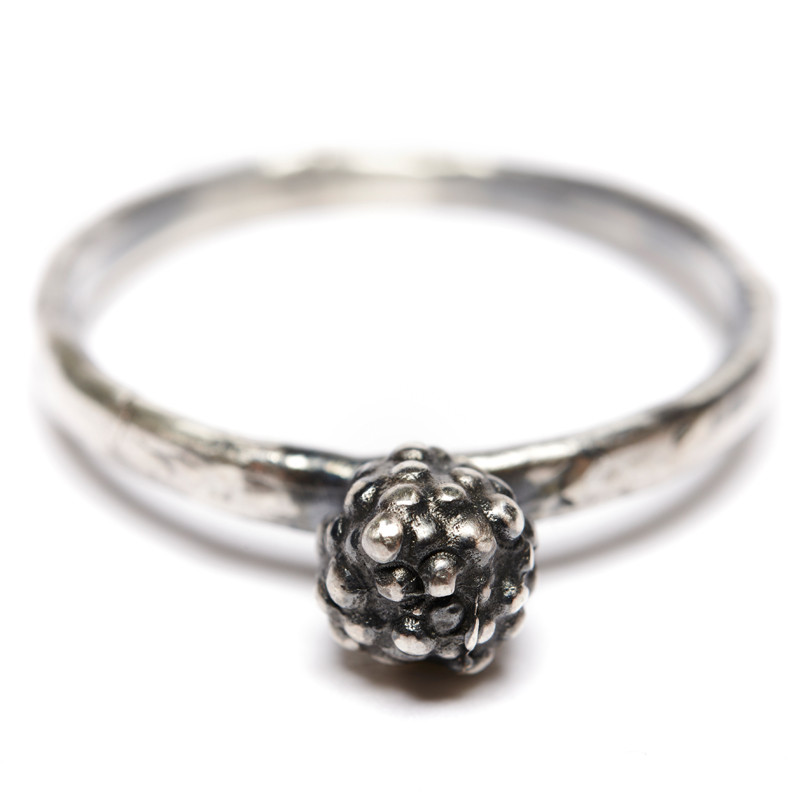 Ring Blossom Oxidized Sterling Silver