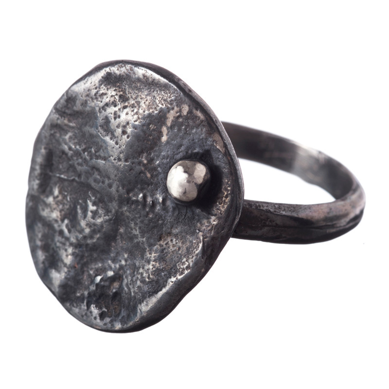 Ring Blossom Oxidized Sterling Silver XL