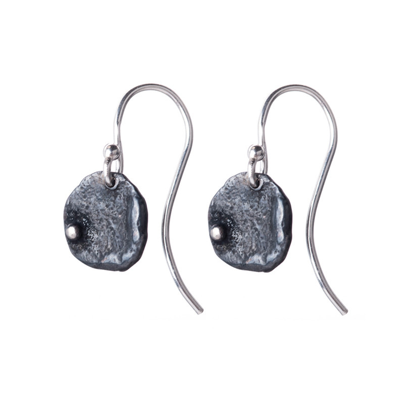 Earrings Blossom Oxidized Sterling Silver
