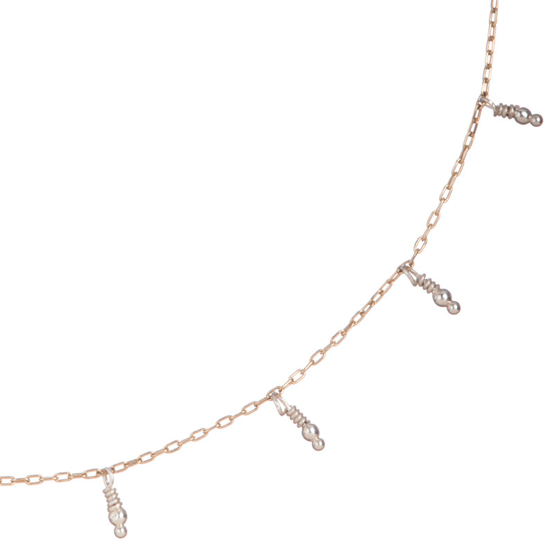 Necklace Namibie Sterling Silver Pearls & Vermeil