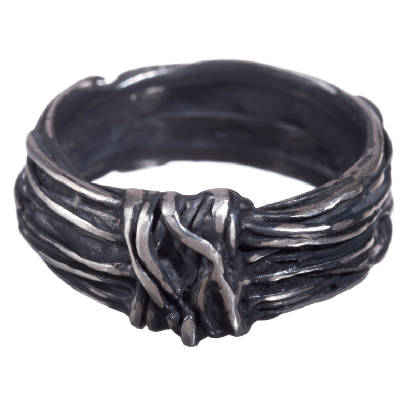 Ring Twist Oxidized Sterling Silver