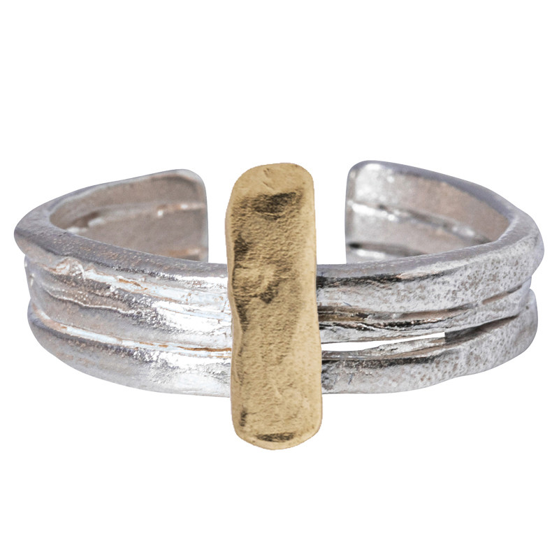 Ring Niger 3 Rings Silver 925 and Gold 585/1000