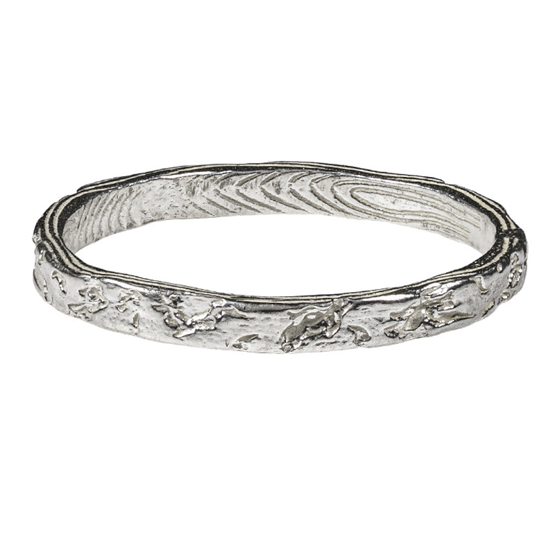 Forest Log Sterling Silver Ring