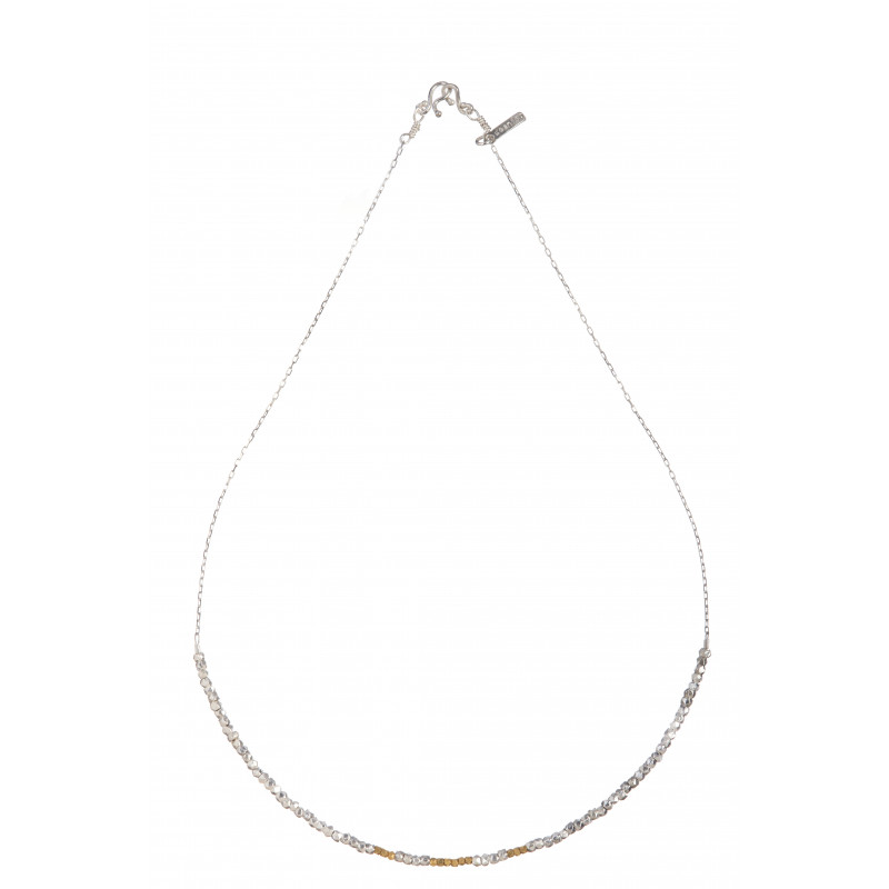 Collier Rocaille Argent 925 & Or 18 cts