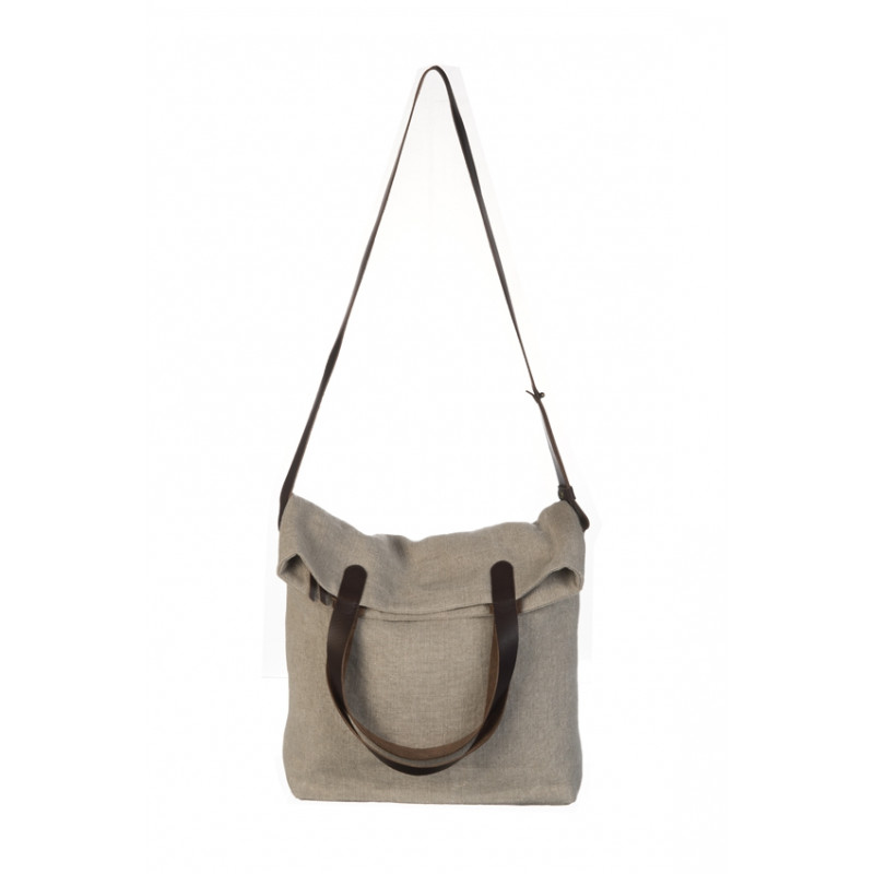 Bag Hampton Mixed Linen & Leather Linen Color